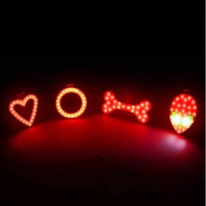 Hot New Bicycle Tail Light Bike Visual Warning Lamp Round Heart Shape USB Charge Cycling MTB Rear Back Safety COB LED Lantern pictures & photos