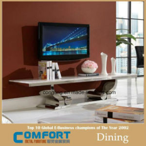 Modern Stainless Steel Base Marble Top TV Stand Furniture pictures & photos