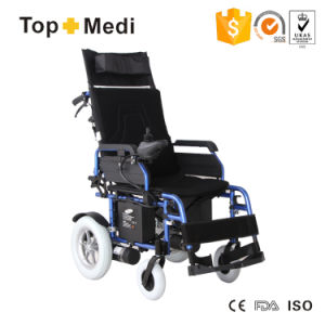Rehabilitation Therapy Equipment Reclining Foldable Electric Wheelchair for Disabled pictures & photos