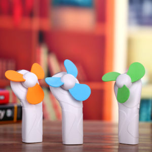 Mini Portable Handheld Fan with LED Torch Flashlight Fan pictures & photos