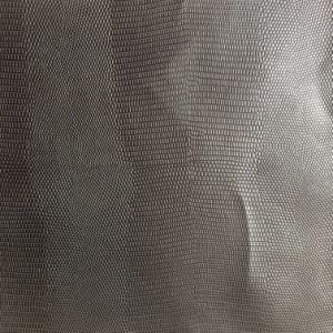 Synthetic Lizard Grain PU Leather for Shoes Bags Making Hx-S1741 pictures & photos