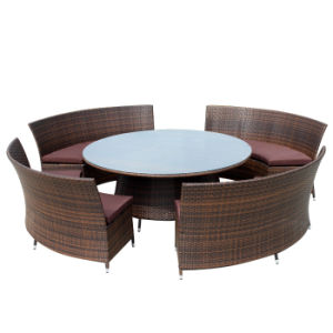 Outdoor Patio Drawing Room Furniture Hand-Woven Rattan Chair and Table Set pictures & photos