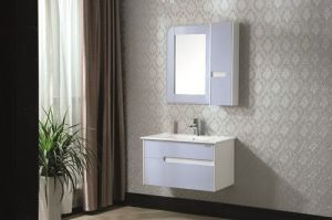 Solid Wood Modern Style Bathroom Cabinet