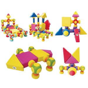 Customized Newest Design EVA Magnetic Building Blocks Children Toy pictures & photos