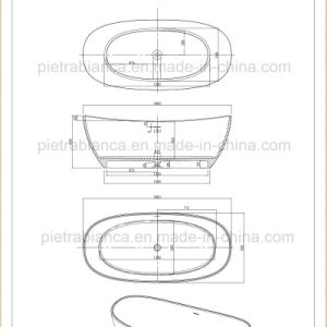New Style Artificial Stone Freestanding Bathtub (PB1069M) pictures & photos