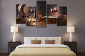 HD Printed Ordinary Red Wine Glasses Painting on Canvas Room Decoration Print Poster Picture Canvas Mc-005 pictures & photos