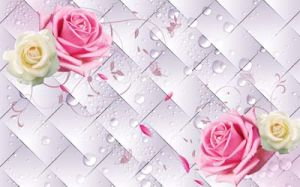 3D Champagne Rose Design for Home Decoration Painting on Wall Panel pictures & photos