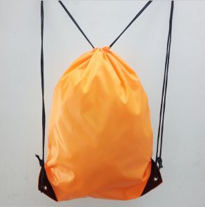 Colorful 210d Polyester Drawstring Backpack with PP String for Outdoor pictures & photos
