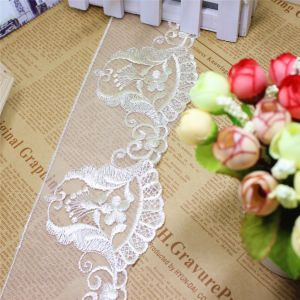 Factory Stock Wholesale 9cm Width Polyester Embroidery Trimming Nylon Net Lace for Garments & Home Textiles & Curtains Accessory (BS1222) pictures & photos