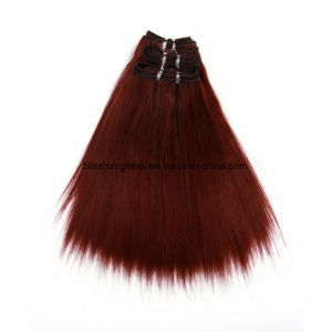 Yaki Straight 99j Color Human Hair Indian Hair pictures & photos
