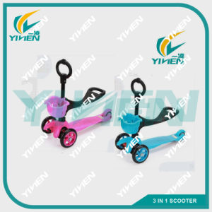 3 in 1 Kids Kick Scooter Plastic Children Scooter Factory for Sale pictures & photos