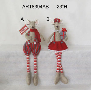 Long Leg Mouse Sitter Holiday Decoration Gift-2asst. pictures & photos