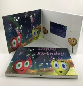 LCD Video Greeting Card for Business Promotion pictures & photos