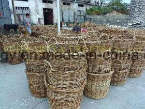Natural Handmade Flat Rattan Garden Decoration pictures & photos