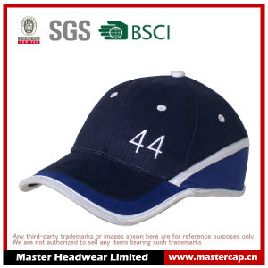 Applique Embroidery Hemming Stitch 100% Cotton 6 Panel Baseball Cap Stretch Cap pictures & photos