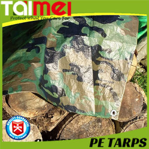 Waterproof Fabric Truck Cover Raw Material PE Camo Tarpaulin pictures & photos