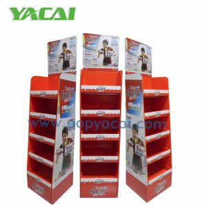 Promotional Chocolate Cardboard Display with 5 Shelves, Cardboard Shelf Display Stand pictures & photos