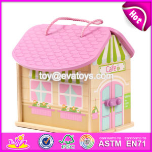 New Products Customized Pink Wooden Girls Dolls House W06A171 pictures & photos