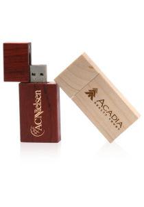 Imprint Logo Rectangle Wood USB Flash Pen Driver pictures & photos