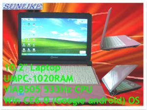 "10.2"" Win CE6.0/ Android Via8505 Student Laptops (UMPC-1020RAM)"