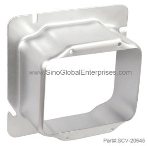 "4-11/16"" Square Two Gang 2"" Raised Device Ring (SCV-20645)"