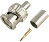 BNC Connector 3 Piece, Crimp-on Male Plug (RX-BNC004)
