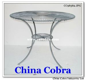 Dining Table With Metal and Glass (CC98582)