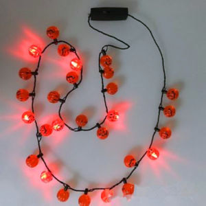 Pumpkins Beads LED Light up Flashing Necklace pictures & photos