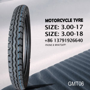 Motorcycle Tyre Double Line 3.00-17 3.00-18 pictures & photos