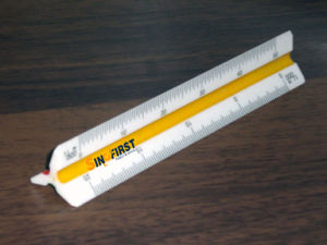 "4"" Triangular Scales Ruler pictures & photos"