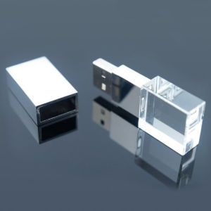 Crystal USB Flash Drive 3D Laser Engraving pictures & photos