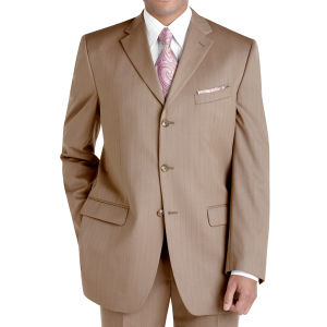 Formal Suit 3 Button Suit Light Brown Business Blazer (90650)