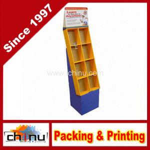 Cardboard Retail Books and Magazine Floor Displays Pocket Stand (6128) pictures & photos