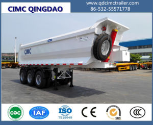 Cimc 2axle 20cbm U-Type Tipper Semitrailer Tipper Trailer Chassis pictures & photos