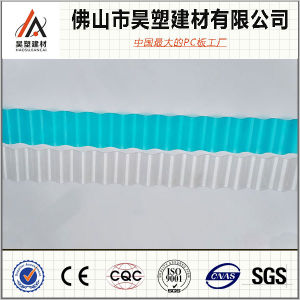 1mm China Factory Direct 840 930 1050 Polycarbonate Corrugated Roofing Sheet for Greenhouse and Breeding Shed