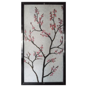 Decorative Material Flower Mural Stained Glass Mosaic Mural for Sale pictures & photos
