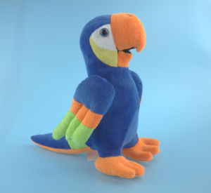 Blue Soft Plush Toy Parrot pictures & photos