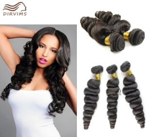 Cheap Price Good Quality Unprocessed Hair Natural Black Loose Wave European Human Hair Weaving