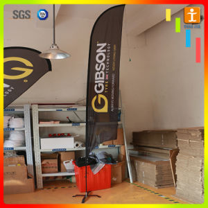 3.9m Exhibition Fiberglass Digital Printing Flying Flag/Feather Flag pictures & photos