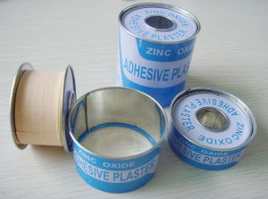 Most Breathble Zinc Oxide Plaster with Metal Tin pictures & photos