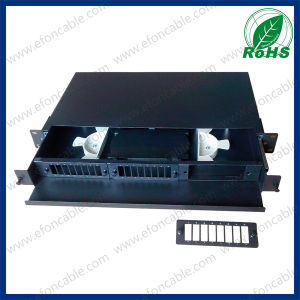 2u 19inch 48/96 Port Fiber Optic Rack Mount Patch Panel pictures & photos