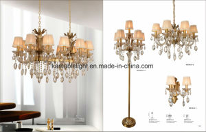 Europe Type Furniture Crystal Floor Lamp (ML9828-5+1) pictures & photos