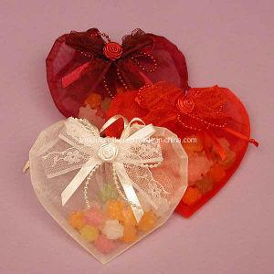 Lovely Floral Trimmed Heart Bag