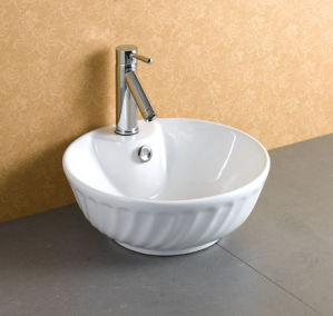 Round Vessel Ceramic Washing Sink Ab-002 pictures & photos