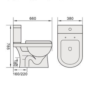 Watermark Sanitary Ware Two Piece Washdown Ceramic Toilet pictures & photos