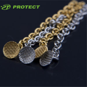 Dental Orthodontic Ss Button Chain Golden Color Silver Color