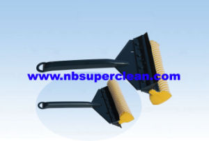 Plastic Car Window Squeegee with Sponge and Rubber (CN1707) pictures & photos