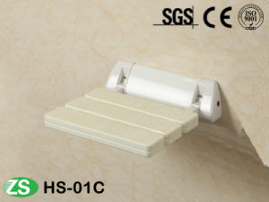 Bathroom Fitting White Yellow Nylon Cover Foldable Shower Bath Seat pictures & photos