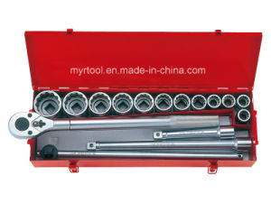 16PC Professional 3/4dr. Socket Wrench Tool Kit in Metal Case pictures & photos