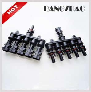 Mc4 Connectors 5 to 1 Cable Connector Max 40A for Solar Power System pictures & photos